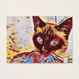 Cartão de visita da arte do gatinho