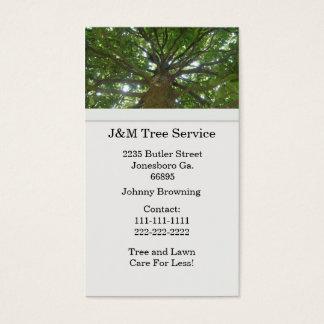 Cartão de visita da árvore