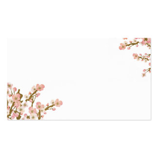 Cartão de visita da árvore da flor de cerejeira