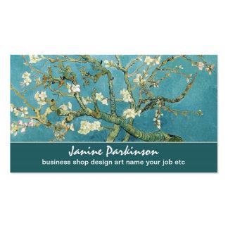 Cartão de visita da árvore das flores de Van Gogh