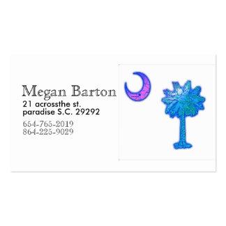 cartão de visita da árvore do estado