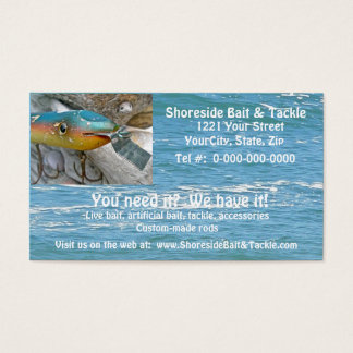 Cartão de visita da atração da pesca de Codder do