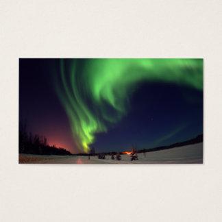 Cartão de visita da aurora boreal