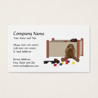 Cartão de visita da baby-sitter da puericultura do