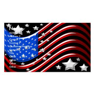 Cartão de visita da bandeira americana