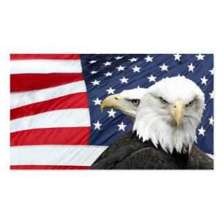 Cartão de visita da bandeira americana das águias