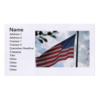 Cartão de visita da bandeira dos Estados Unidos