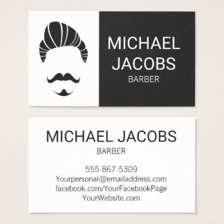 Cartão de visita da barba do cabeleireiro do