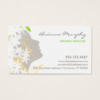 Cartão de visita da beleza da pele e dos cuidados