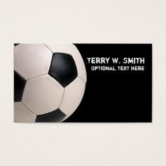 Cartão de visita da bola de futebol
