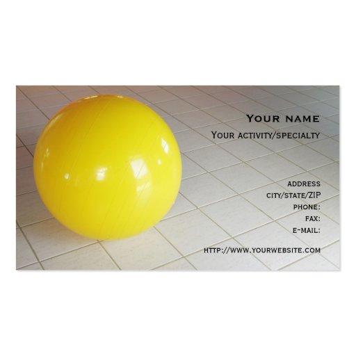 """""""Cartão de visita da bola suíça"""""""