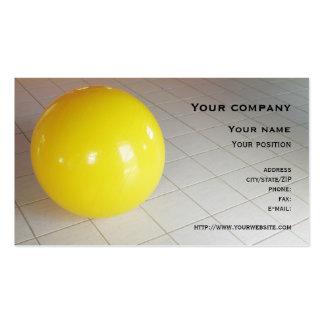 Cartão de visita da bola suíça