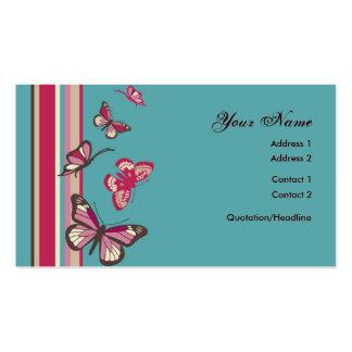 Cartão de visita da borboleta