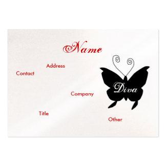 Cartão de visita da borboleta da diva -