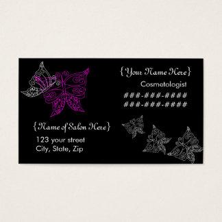 Cartão de visita da borboleta do Cosmetologist