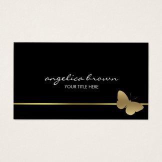 Cartão de visita da borboleta do ouro