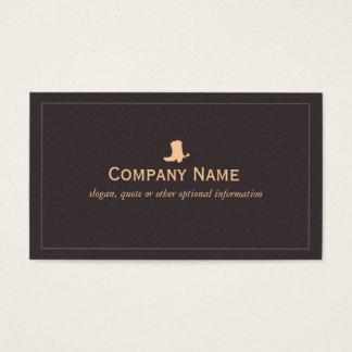 Cartão de visita da bota de vaqueiro