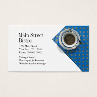 Cartão de visita da cafetaria