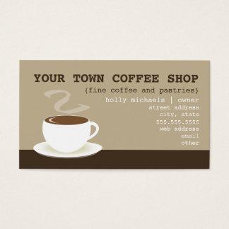 Cartão de visita da cafetaria - chávena de café