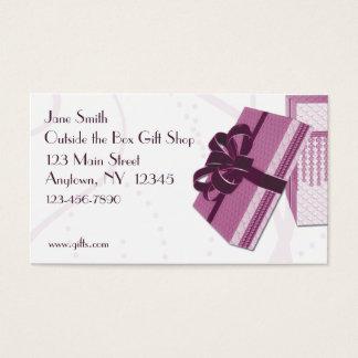 Cartão de visita da caixa de presente