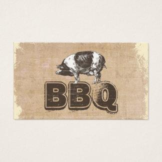 Cartão de visita da carne de porco do CHURRASCO do