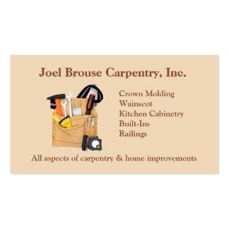 Cartão de visita da carpintaria de Brouse