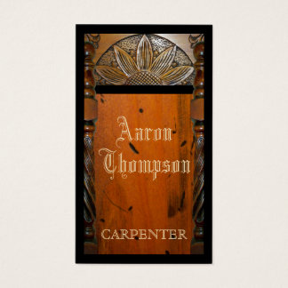 Cartão de visita da carpintaria do carpinteiro