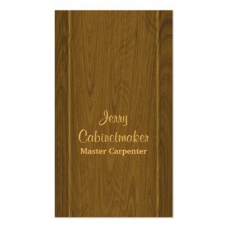 Cartão de visita da carpintaria ou do fazer do arm