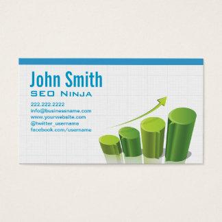 Cartão de visita da carta de crescimento SEO do