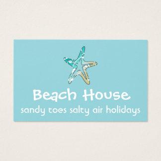 Cartão de visita da casa de praia