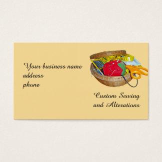 Cartão de visita da cesta Sewing
