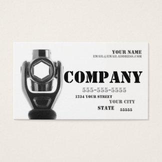 Cartão de visita da chave do mecânico & de soquete