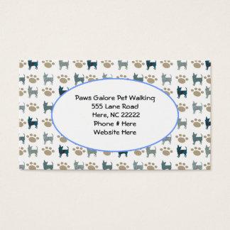 Cartão de visita da chihuahua & da pata
