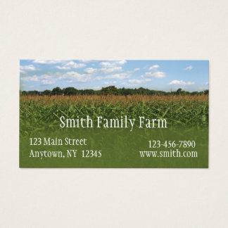 Cartão de visita da colheita do milho