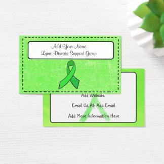 Cartão de visita da consciência da doença de Lyme
