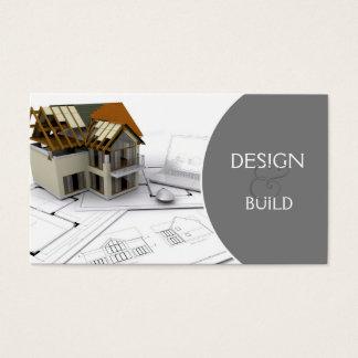 Cartão de visita da construção/arquitetos