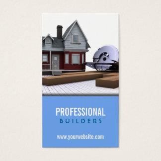 Cartão de visita da construção/construtores