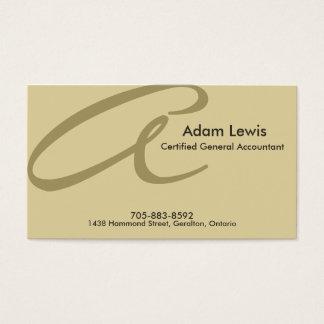 Cartão de visita da contabilidade - monograma