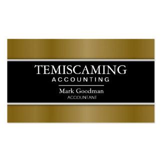 Cartão de visita da contabilidade - preto ouro d