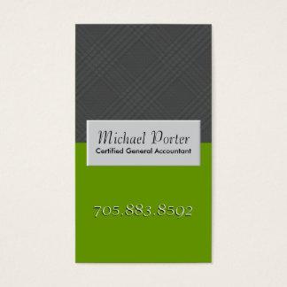 Cartão de visita da contabilidade - xadrez do