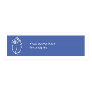 Cartão de visita da coruja