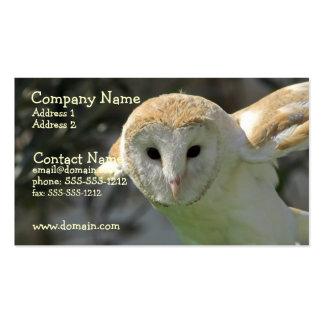 Cartão de visita da coruja de celeiro