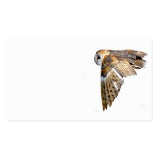 Cartão de visita da coruja de celeiro do vôo