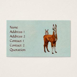 Cartão de visita da CORUJA do LAMA & do ANTLER