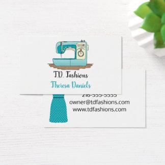 Cartão de visita da costureira