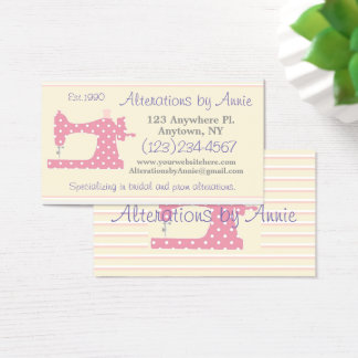 Cartão de visita da costureira do alfaiate da