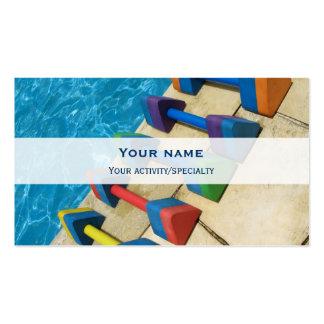 Cartão de visita da dobro-cara de Aquacise