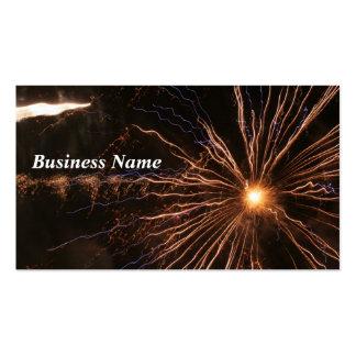 Cartão de visita da eletricidade dos fogos-de-arti