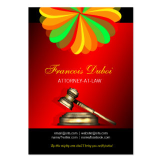 Cartão de visita da empresa de advocacia do
