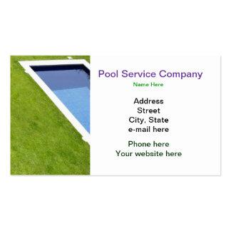 Cartão de visita da empresa de serviços da piscina